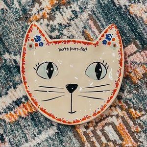 Natural Life Kitty Cat Head Trinket Jewelry Dish